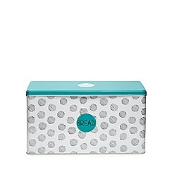 Ben de Lisi Home - White spotted print tin bread bin