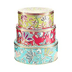 Butterfly Home by Matthew Williamson - Set of three bird print tins