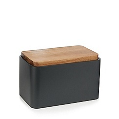 RJR.John Rocha - Dark grey acacia wood bread bin