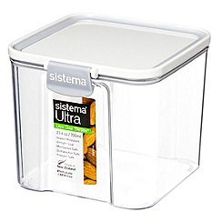 Sistema - Ultra clear tritan square 700ml container