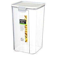Sistema - Ultra clear tritan square 1.3L container