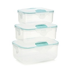 Home Collection Basics - Set of three assorted sized storage containers