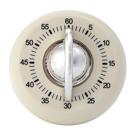 Home Collection Basics - Cream retro timer