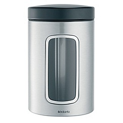 Brabantia - Stainless steel 1.4ltr window canister
