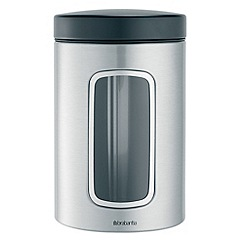 Brabantia - Steel plated 1.4ltr window canister