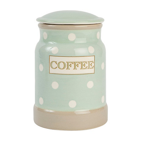 T&G Woodware - Cream & Country Mint Spot Coffee Jar
