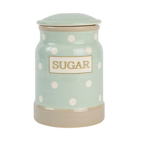 T&G Woodware - Cream & Country Mint Spot Sugar Jar