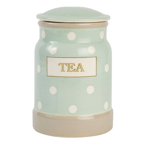 T&G Woodware - Cream & Country Mint Spot Tea Jar