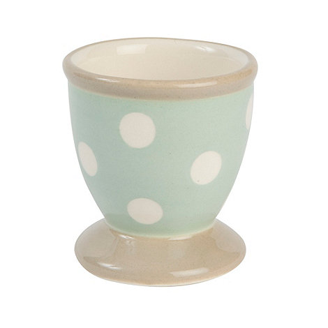 T&G Woodware - Cream & Country Mint Spot Egg Cup