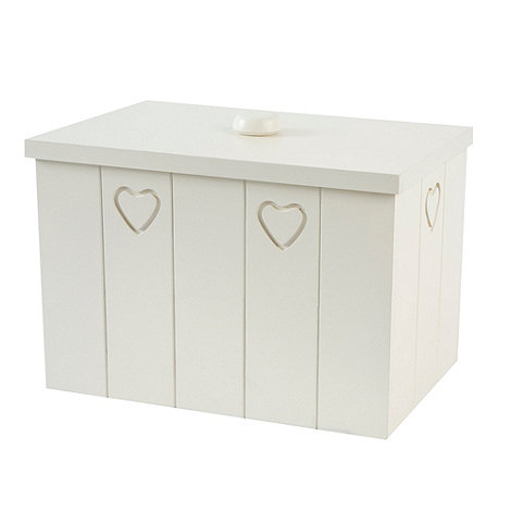 T&G Woodware - Cream Hevea Wood Bread Bin