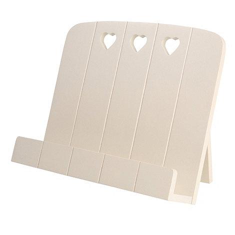T&G Woodware - Cream Hevea Wood Heart Recipe Book Holder