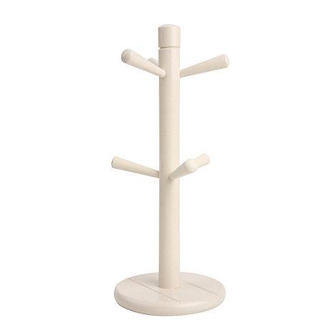 T&G Woodware - Cream Hevea Wood Mug Tree