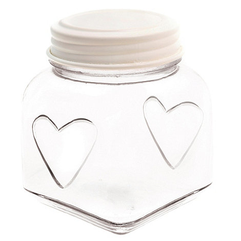 Sass & Belle - Cream small heart storage jar