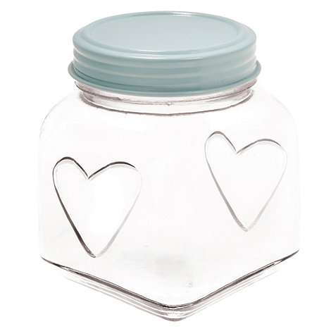 Sass & Belle - Blue small heart storage jar