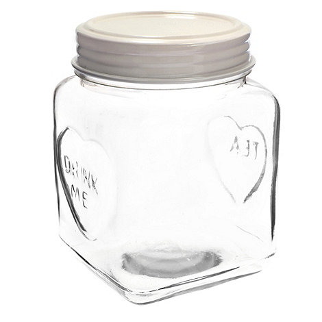 Sass & Belle - Cream medium heart storage jar