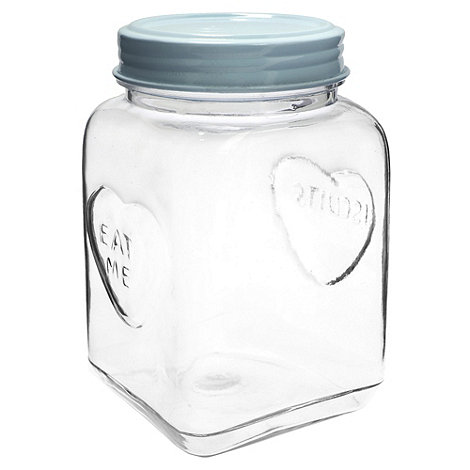 Sass & Belle - Blue large heart storage jar
