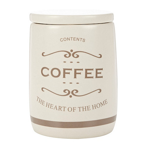 Debenhams - Ceramic +The Heart of the Home+ coffee jar