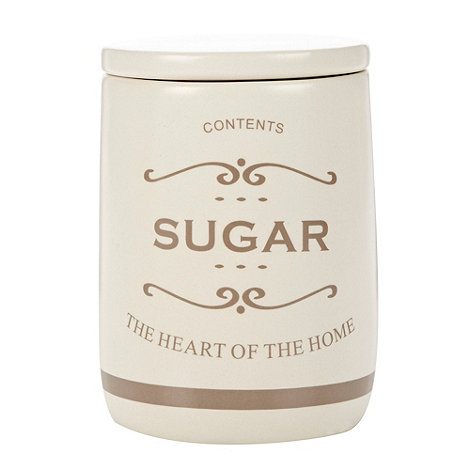 Debenhams - Ceramic +The Heart of the Home+ sugar jar