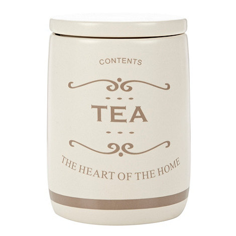 Debenhams - Ceramic +The Heart of the Home+ tea jar