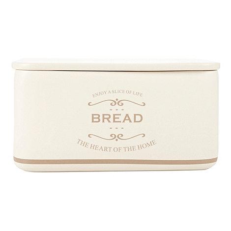 Debenhams - Ceramic +The Heart of the Home+ bread bin