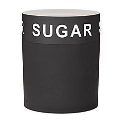 Home Collection Basics - Black soft touch sugar jar