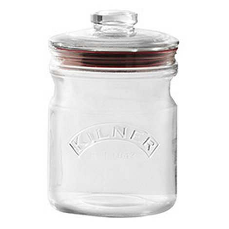 Rayware - Glass 1 litre push top jar
