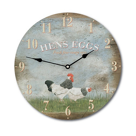 Booth Design - Wooden +Hens Eggs+ wall clock