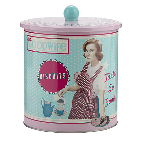Debenhams - Pink +Good Wife+ biscuit jar
