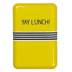 Wild & Wolf - Yellow 'Yay lunch!' lunchbox