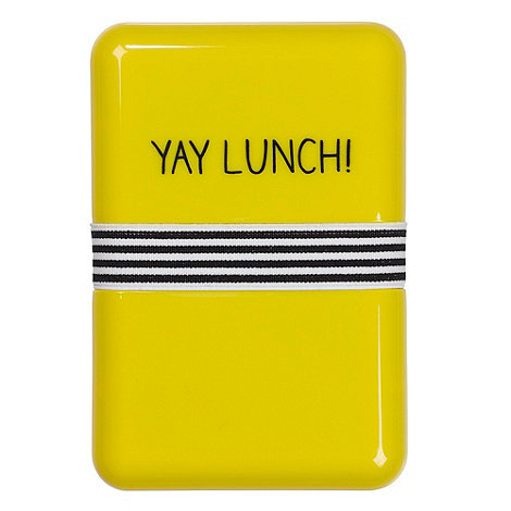 Wild & Wolf - Yellow +Yay lunch!+ lunchbox
