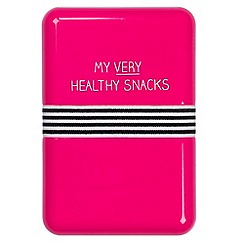 Wild & Wolf - Pink 'Healthy Snacks' lunchbox