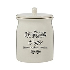 Debenhams - Ceramic cream 'Coffee' jar