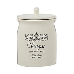 Debenhams - Ceramic cream 'Sugar' jar