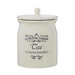 Debenhams - Ceramic cream 'Tea' jar