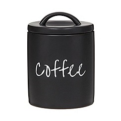 Debenhams - Ceramic black coffee jar