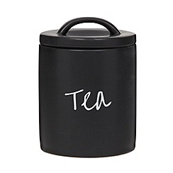 Debenhams - Ceramic black tea jar