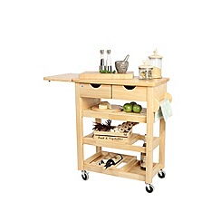 T&G Woodware - Hevea wood Viva trolley
