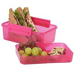 Clic Tite - Clic-Tite pink 1.1l double-decker sandwich box