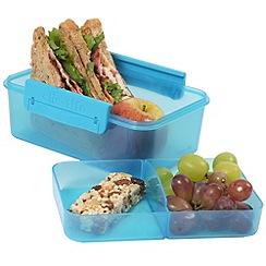 Clic Tite - Clic-Tite turquoise 1.1l double-decker sandwich box