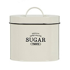Debenhams - Cream 'Sugar' storage tin