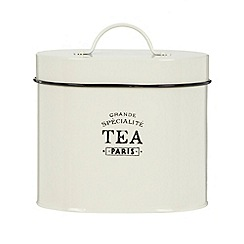 Debenhams - Cream 'Tea' storage tin