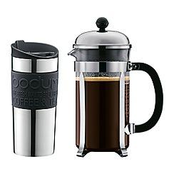 Bodum - Chambord set of 8 cup coffee maker and vacuum travel mug