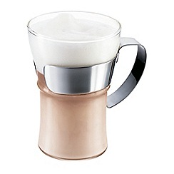 Bodum - Assam large coffee tea glass with steel handle