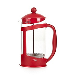 Home Collection Basics - Red plastic eight cup cafetiere