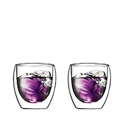 Bodum - Set of two 'Pavina' double wall glasses