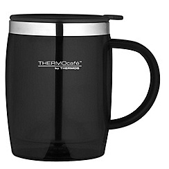 Thermos - Black desk mug