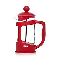 Home Collection Basics - Red plastic three cup cafetiere