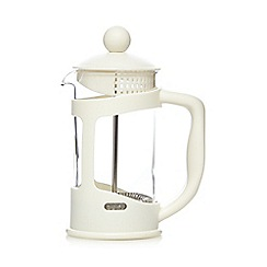 Home Collection Basics - Cream plastic three cup cafetiere