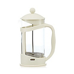 Home Collection Basics - Cream plastic eight cup cafetiere