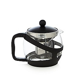 Home Collection Basics - Black 1.2L glass teapot